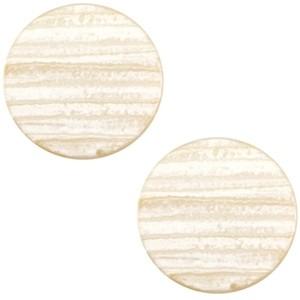 Cabochon 20mm sparkle dust almond brown