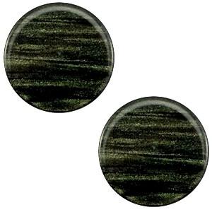 Cabochon 20mm sparkle dust dark classic green