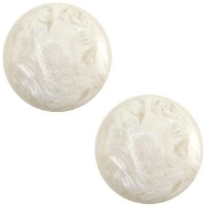 Cabochon 7mm jais beige