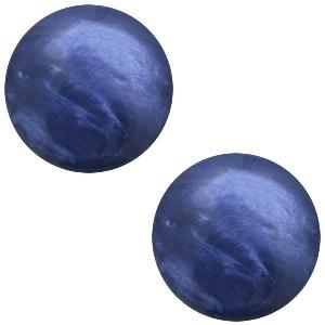 Cabochon 7mm jais midnight blue
