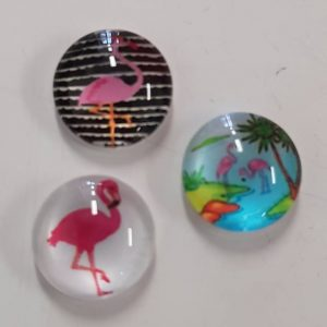 Cabochons 10mm flamingo mix 2.0