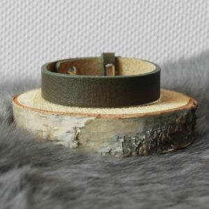 Cuoio armband 15mm donkergroen