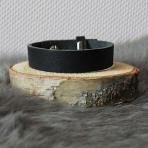 Cuoio armband 15mm nubuck leer zwart