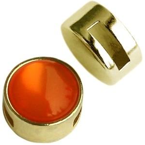 Cuoio schuiver 12mm goud