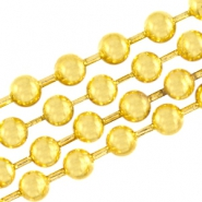 DQ ball chain 3mm gold plated