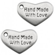 DQ bedel hart Handmade with love zilver
