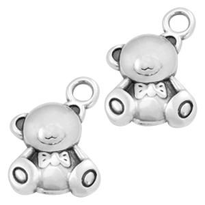 DQ bedel teddybeer zilver