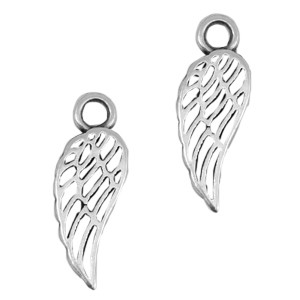 DQ bedel vleugel zilver
