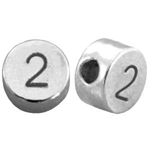 DQ cijferkraal 2 zilver