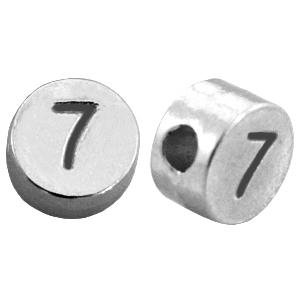 DQ cijferkraal 7 zilver
