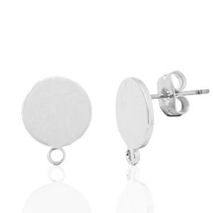 DQ earpin rond met oog zilver