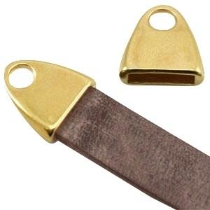 DQ eindkapje goud voor 10mm plat leer en koord
