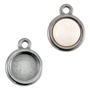 DQ hanger antraciet zilver voor 7mm steen