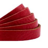 DQ plat leer 10mm cranberry red