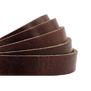 DQ plat leer 10mm rocky road brown