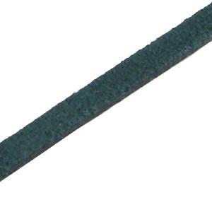DQ plat leer suède 5mm donker teal blue