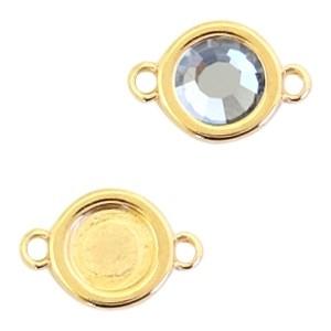 DQ tussenstuk goud voor 4,7mm steen