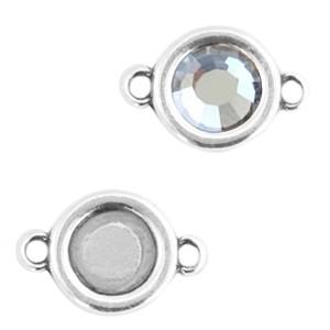 DQ tussenstuk zilver voor 4,7mm steen