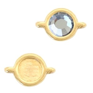 DQ tussenstuk 2.0 goud voor 4,7mm steen