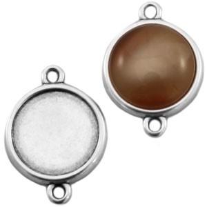 DQ tussenstuk zilver voor 12mm cabochon