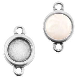 DQ tussenstuk zilver voor 7mm steen