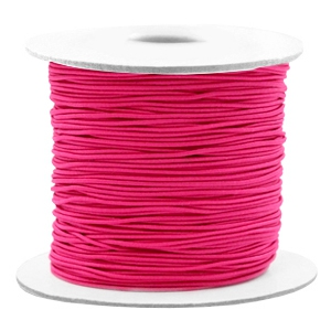 Elastiek 0.8mm fuchsia pink