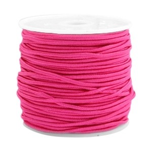 Elastiek 1.5mm fuchsia pink