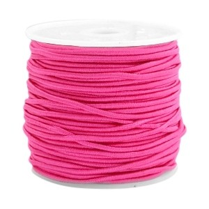 Elastiek 1.5mm light fuchsia pink