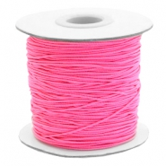 Elastiek 1mm fluor rose