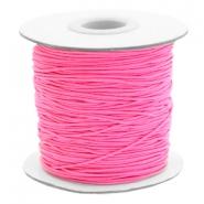 Elastiek 1mm hot neon pink