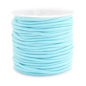 Elastiek 2.5mm aqua blue