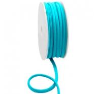 Elastisch ibiza lint 5mm blue zircon