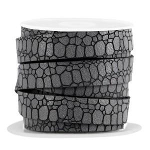 Imitatie leer croco 10mm cool grey