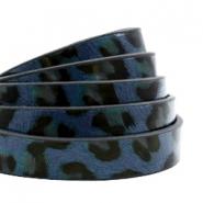 Imitatie leer leopard 10mm dark blue
