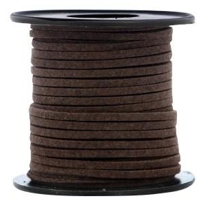 Imitatie suède 3mm chocolade bruin