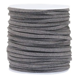 Imitatie suède 3mm dark grey