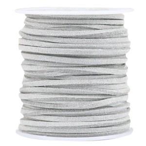 Imitatie suède 3mm graphite grey