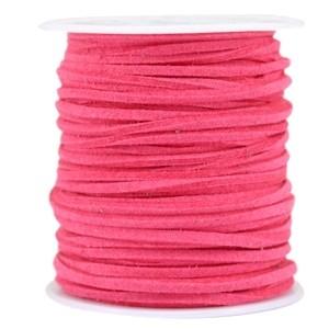 Imitatie suède 3mm hot pink