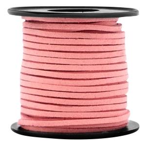 Imitatie suède 3mm koraal roze