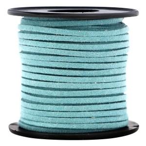 Imitatie suède 3mm teal blauw