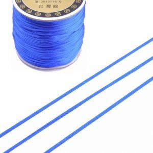 Imitatie zijden koord 1,5mm cobalt blauw
