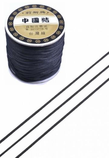Imitatie zijden koord 1,5mm zwart
