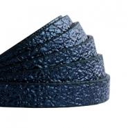 Imitatieleer metallic 10mm dark aegean blue