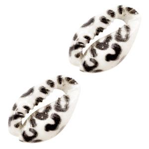 Kauri schelp leopard zwart wit