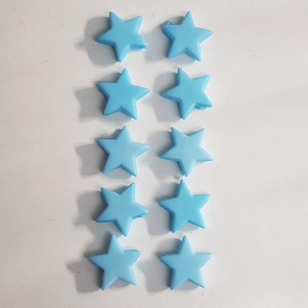Kraal sterretjes acryl blauw