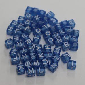 Letterkralen blauw
