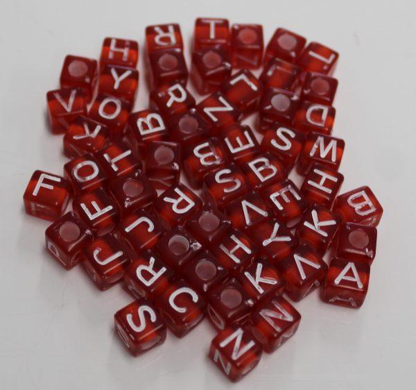 Letterkralen rood