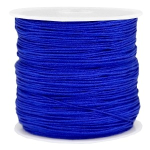 Macramé draad 0.8mm cobalt blauw