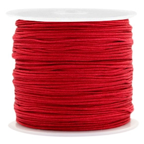Macramé draad 0.8mm port red