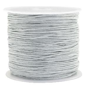 Macramé draad 0.8mm rainy grey